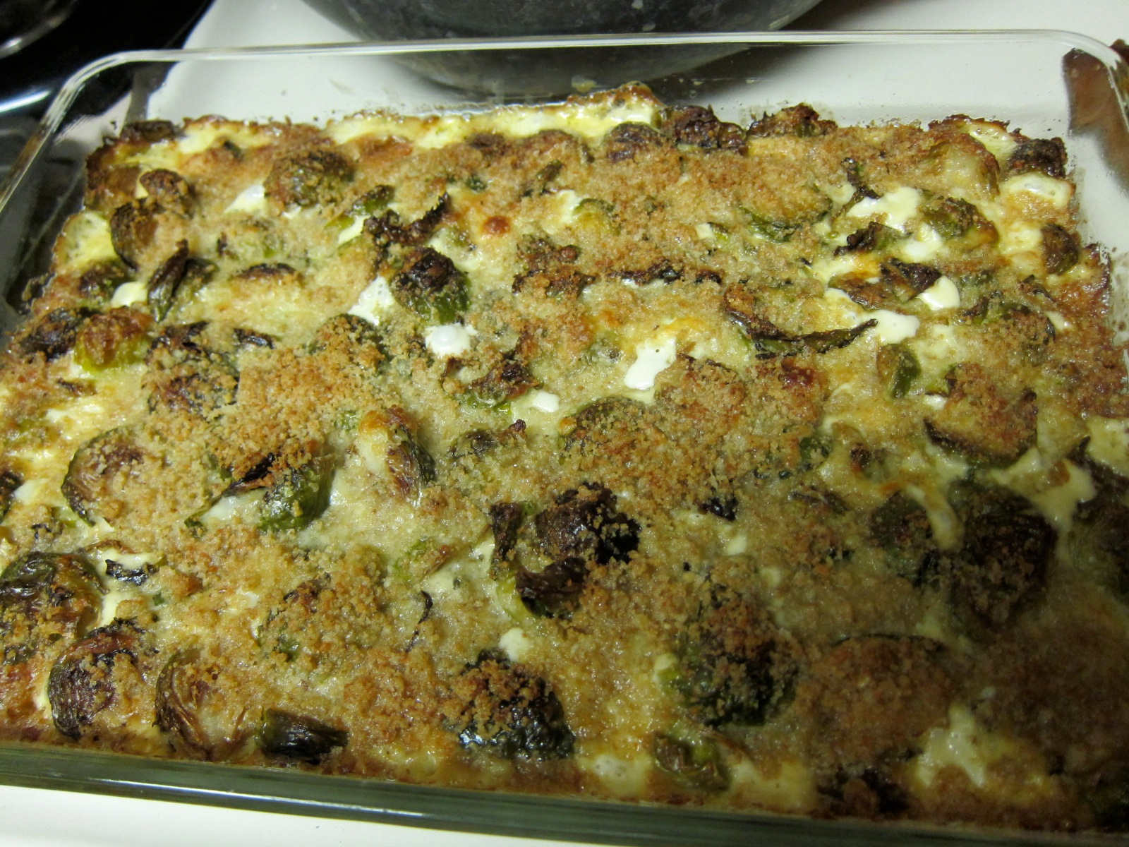 Creamy Brussels Sprouts Gratin With Blue Cheese Recipe ...