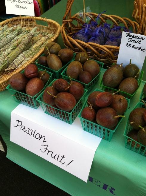 Passion Fruit before September? Gotta love California!