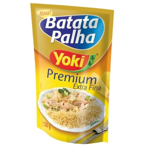 Batata Palha, or Matchstick Potato, I prefer Yoki because it is extra thin. I buy it at Brazilian stores.But you can also find the Picnic brand at most grocery stores.